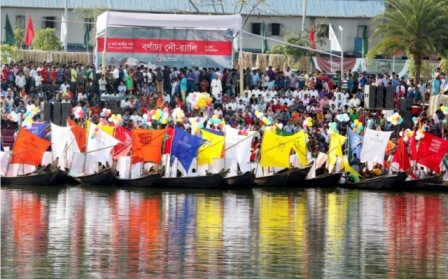 Water rally with 100 boats held marking Jute Day
