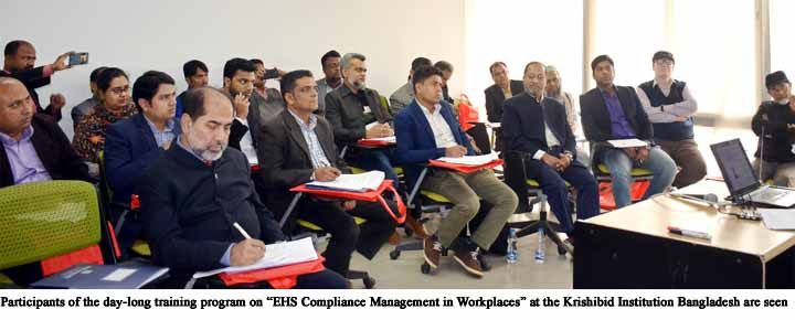 Day-long Training on EHS Compliance held in Dhaka