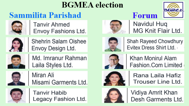 New generation candidates outshine BGMEA election