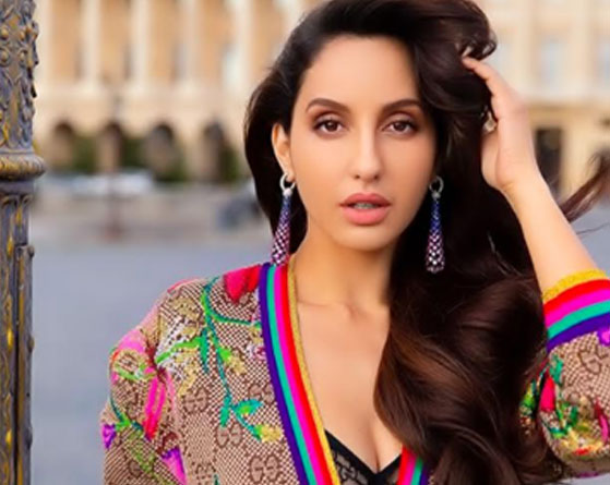 Nora Fatehi in stunning printed outfit